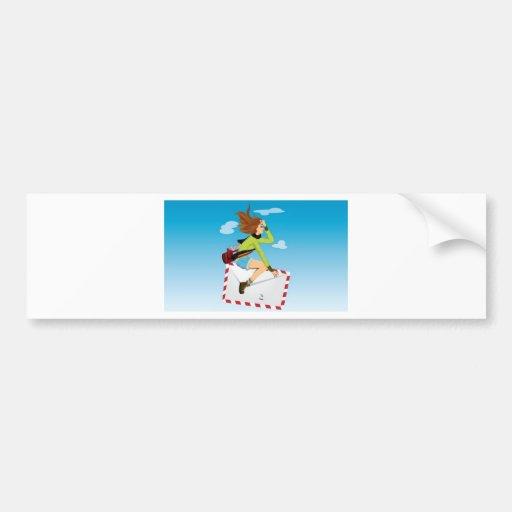 Post girl design bumper sticker