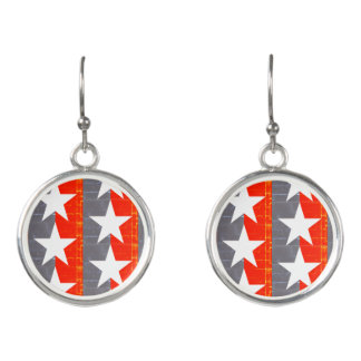 Post-Industrial Stars and Stripes Earrings