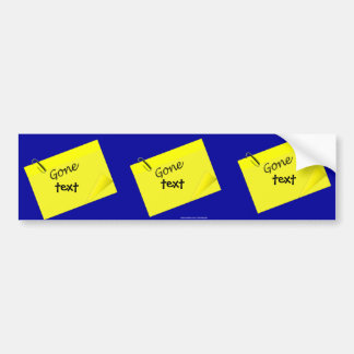 Post it humor funny yellow sticky car bumper sticker