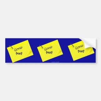 Post it humor funny yellow sticky bumper sticker