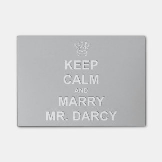 Post It Note Card - Keep Calm and Marry Mr. Darcy