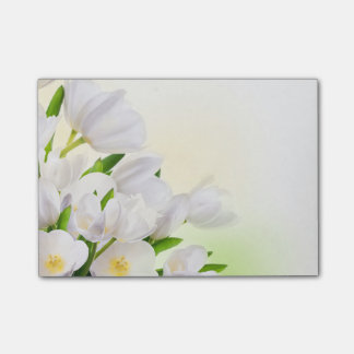 Post-it-Notes-White Tulips Post-it Notes