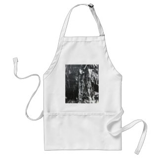 Post modern distressed plastic effect in grey apron