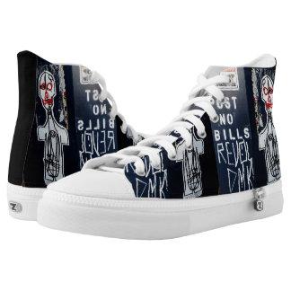 Post No Bills High Top Shoes