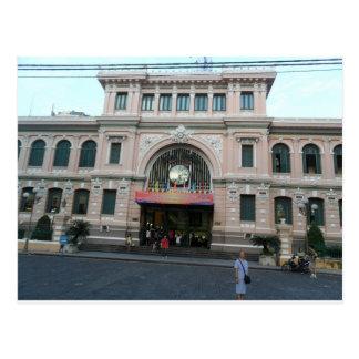 Post Office building in Ho Chi Minh, Vietnam Postcard
