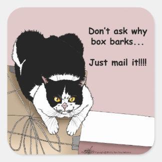 Post Office Cat Square Sticker