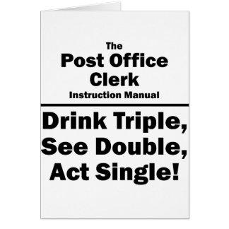 post office clerk note card