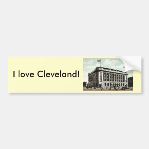Post Office Cleveland Ohio 1910 Vintage Bumper Stickers