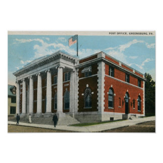 Post Office, Greensburg, Pennsylvania Vintage Poster