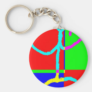 Post Pencil Q Basic Round Button Key Ring