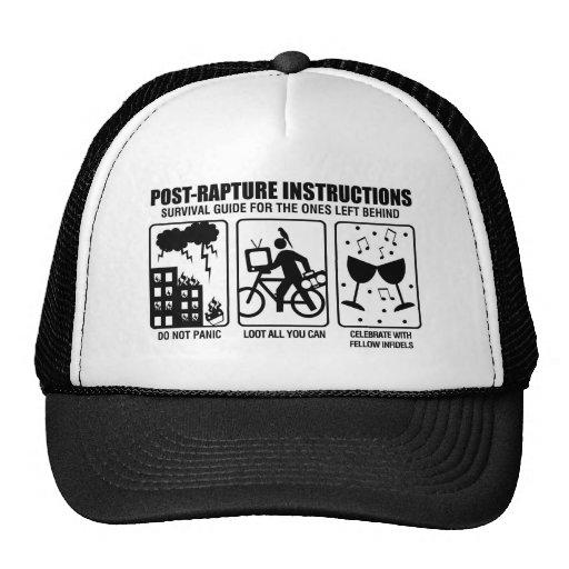 POST-RAPTURE INSTRUCTIONS HATS