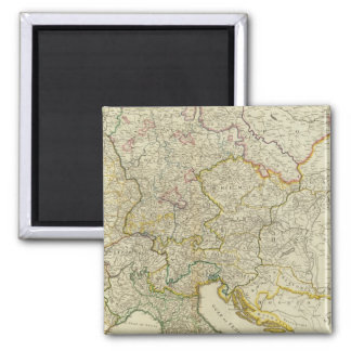 Post roads Germany, Hungary Square Magnet