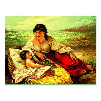 Post seaside memories of mother & child! postcard