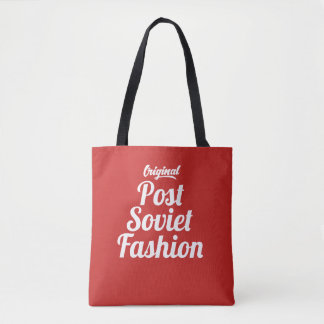 Post Soviet Fashion Vintage Style Tote Bag