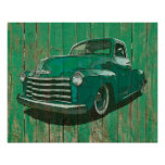 Post war Chevy pickup poster