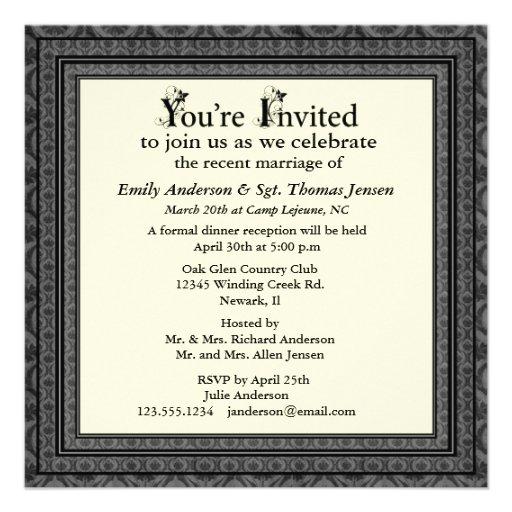 wedding blog post reception invitation wording