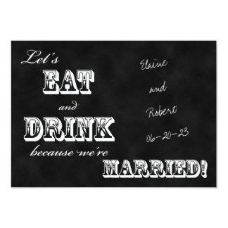 Post Wedding Reception Invitation -- Chalkboard