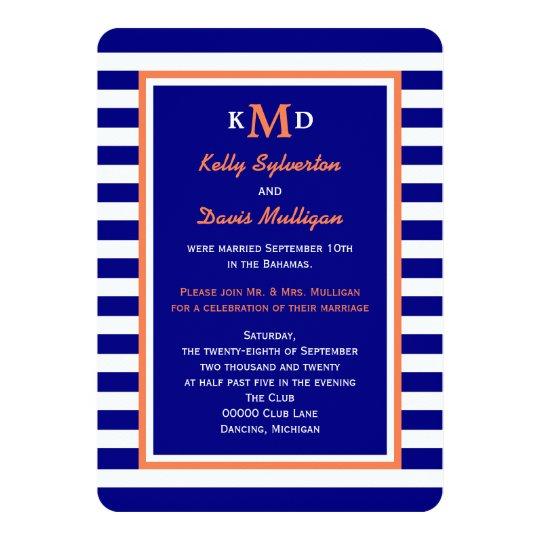 Post Wedding Reception Invitation -- Nautical