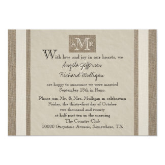 Post Wedding Reception Invitation   Parchment Look