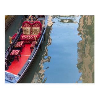 Postacard of a Gondola boat in Venezia, Italia Postcard
