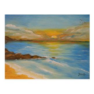Postacard sunset postcard