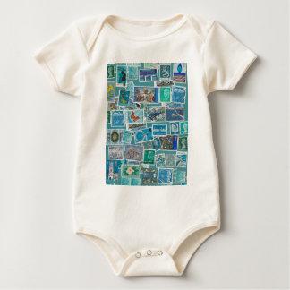 Postage Bleu Baby Bodysuit