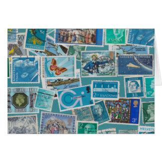 Postage Bleu Card