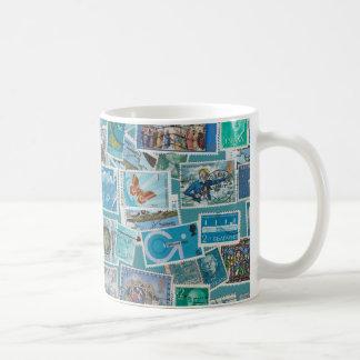 Postage Bleu Collection Coffee Mugs