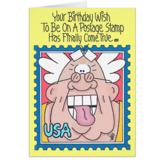 POSTAGE STAMP Birthday Card (Version 2)