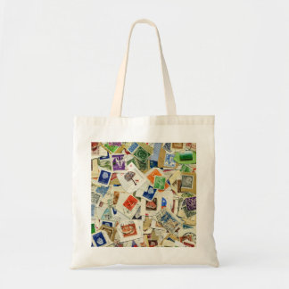 Postage Stamp Collage Travel Tote Bag