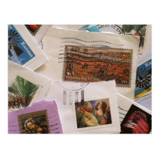Postage Stamp Collection Post Card