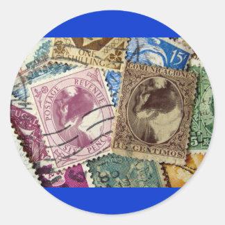 Postage Stamp Lucy Round Sticker