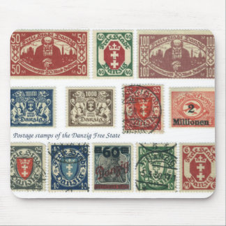 Postage stamps of the Danzig Free State Mouse Pad