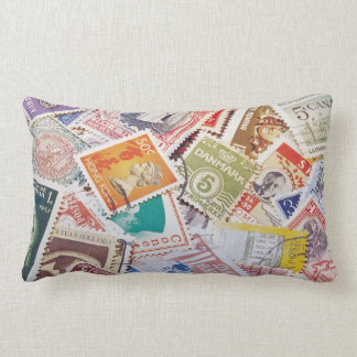 Postage Stamps Pillow Throw Cushions