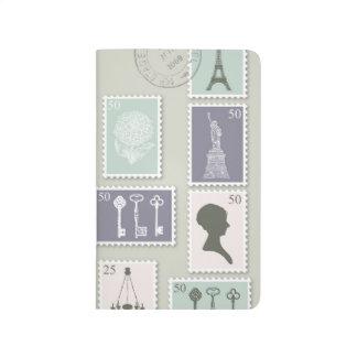 Postage Stamps Pocket Journal