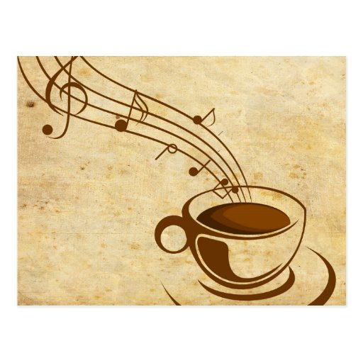 Postal card coffee with music post cards