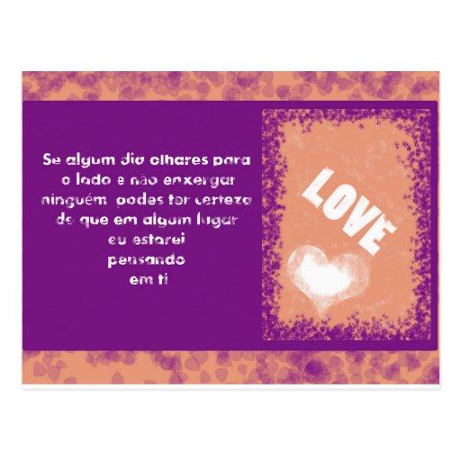 Postal card Love