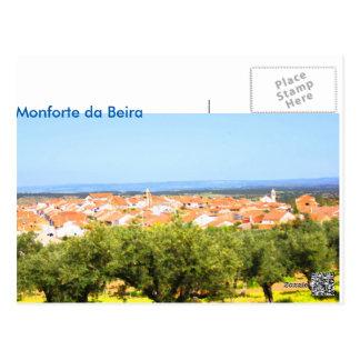 Postal card, Monforte of the Side, Castelo Branco, Postcard
