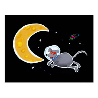 Postal card - Mouse In Space