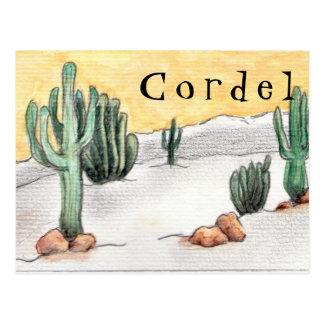 Postal card - Twine and Cactus