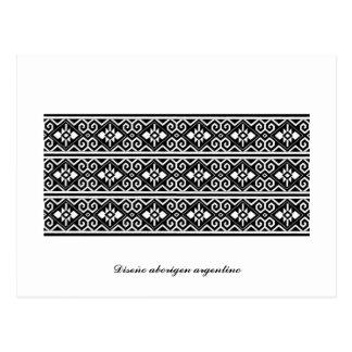 Postal 'Diseño aborigen argentino' by MuyFOLK Postcard