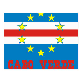 postal flag of Cape Verde Postcards