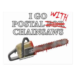 Postal For Chainsaws Postcard