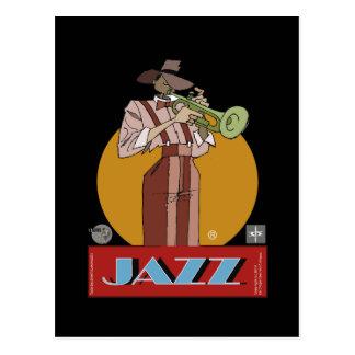Postal Jazz Sketcher Postcard