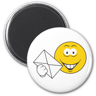 Postal Mailman Smiley Face 6 Cm Round Magnet