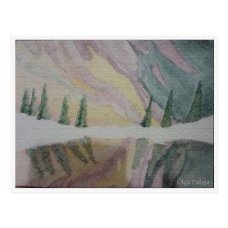 Postal painting landscape