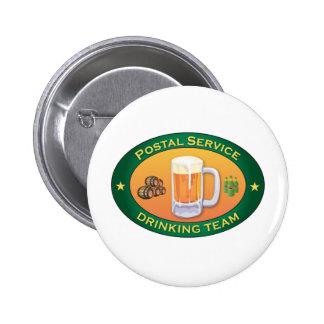 Postal Service Drinking Team Pinback Button