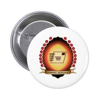 Postal Service Mandorla Button