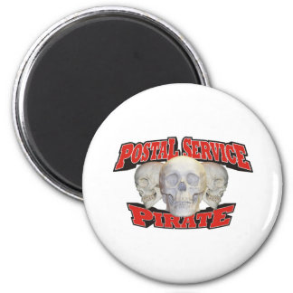 Postal Service Pirate 6 Cm Round Magnet