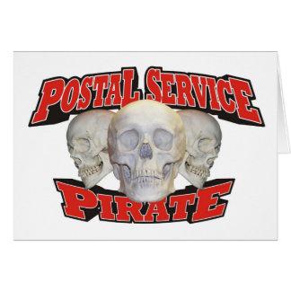 Postal Service Pirate Greeting Card